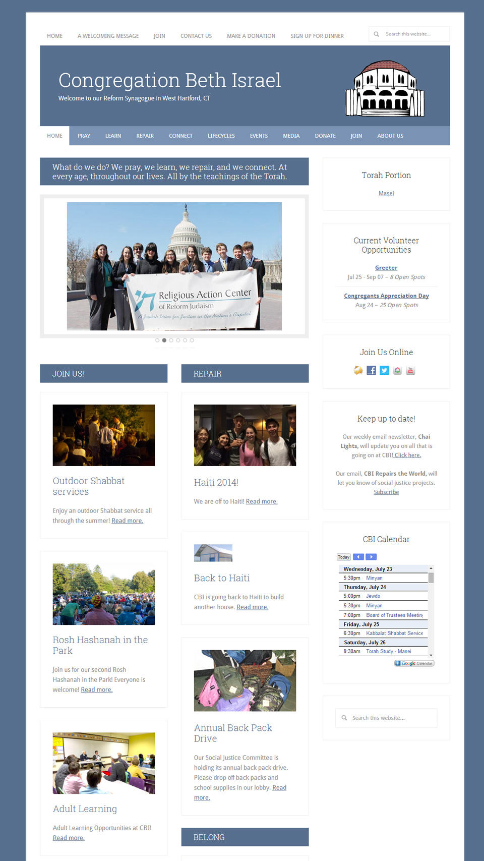 Congregation Beth Israel of Connecticut home page