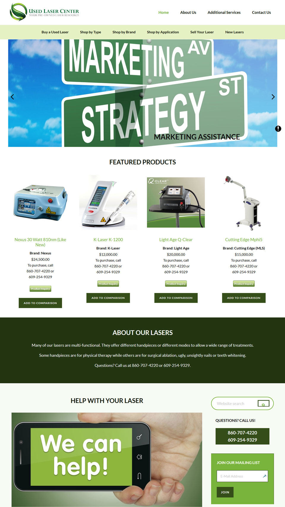 Used Laser Center Home Page