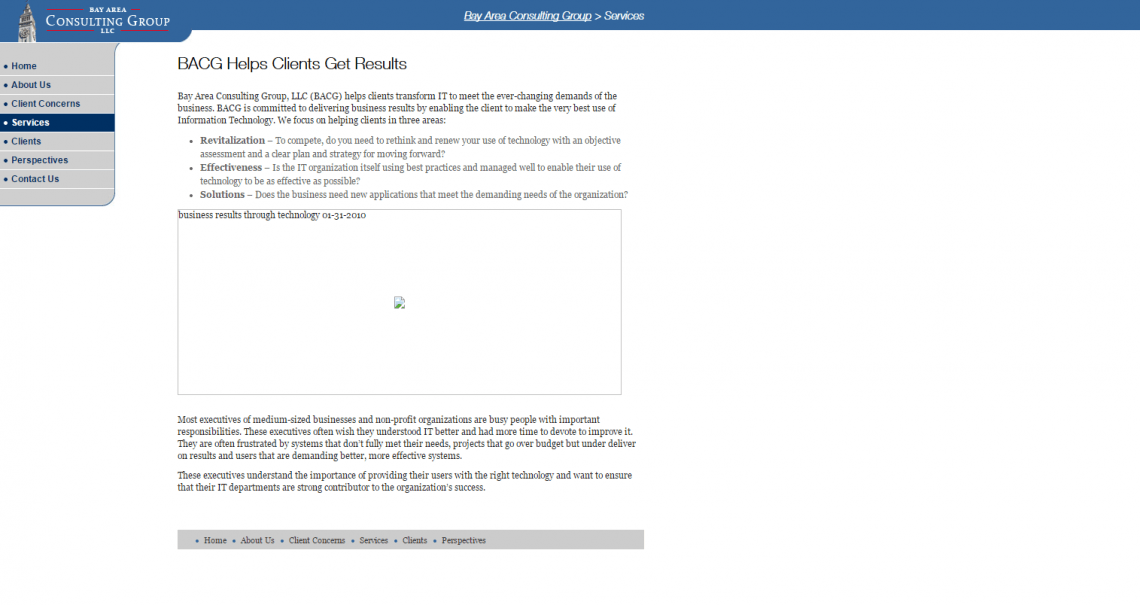 BACG Original Services Page