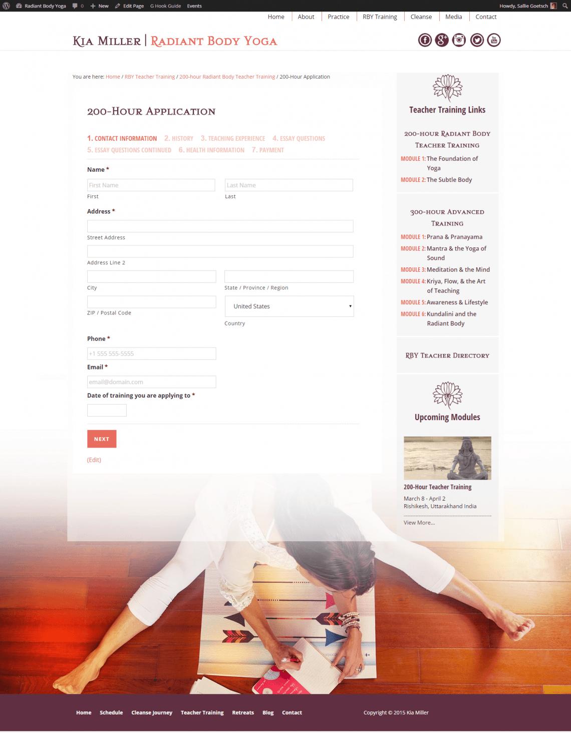 200-Hour Teacher Training Application Form
