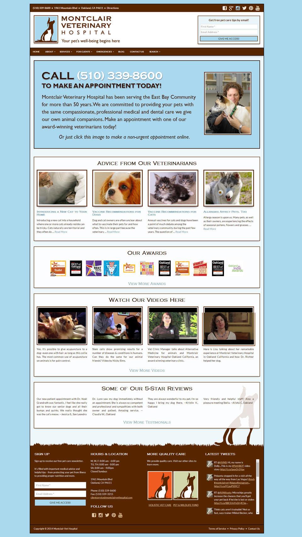Montclair Veterinary Hospital Home Page
