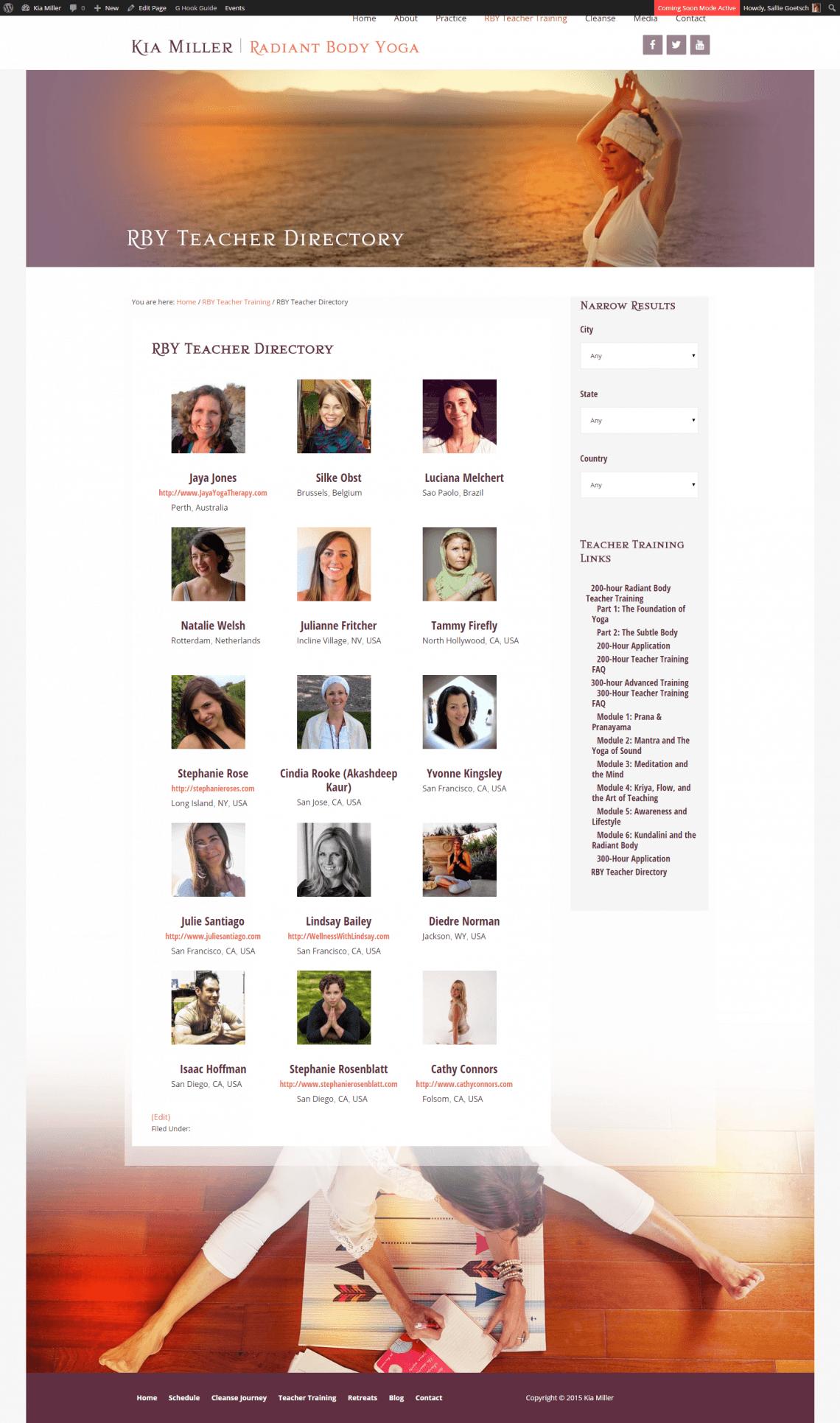 Radiant Body Yoga Teacher Directory