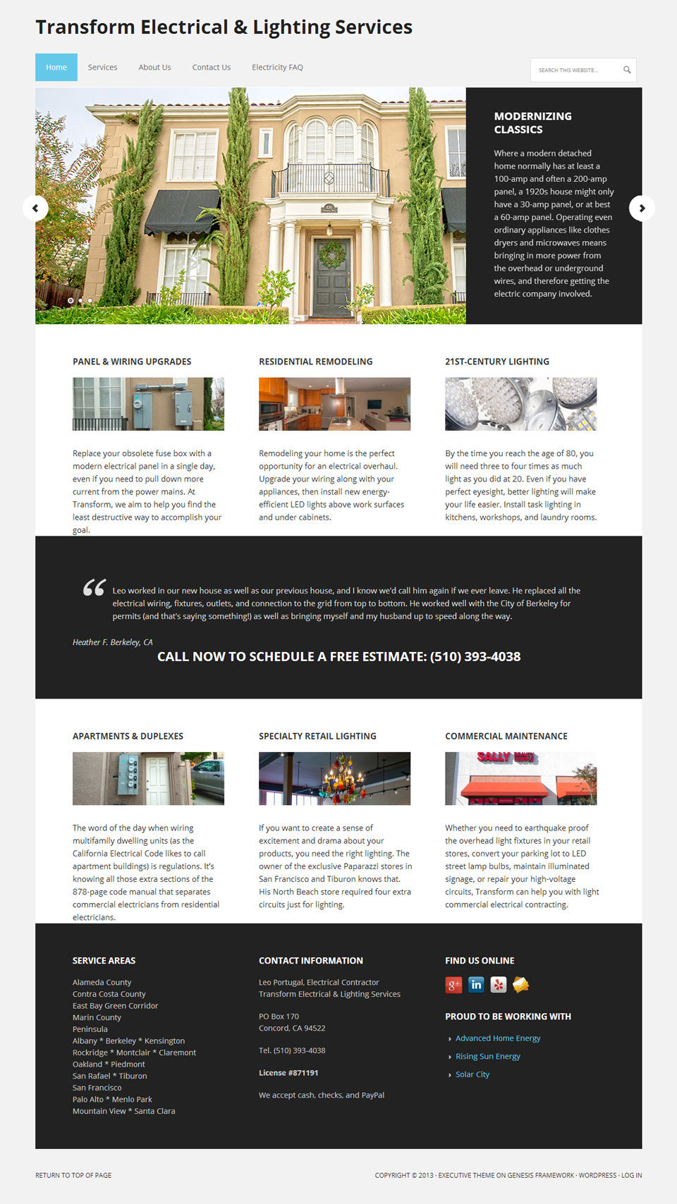Transform Electric Home Page