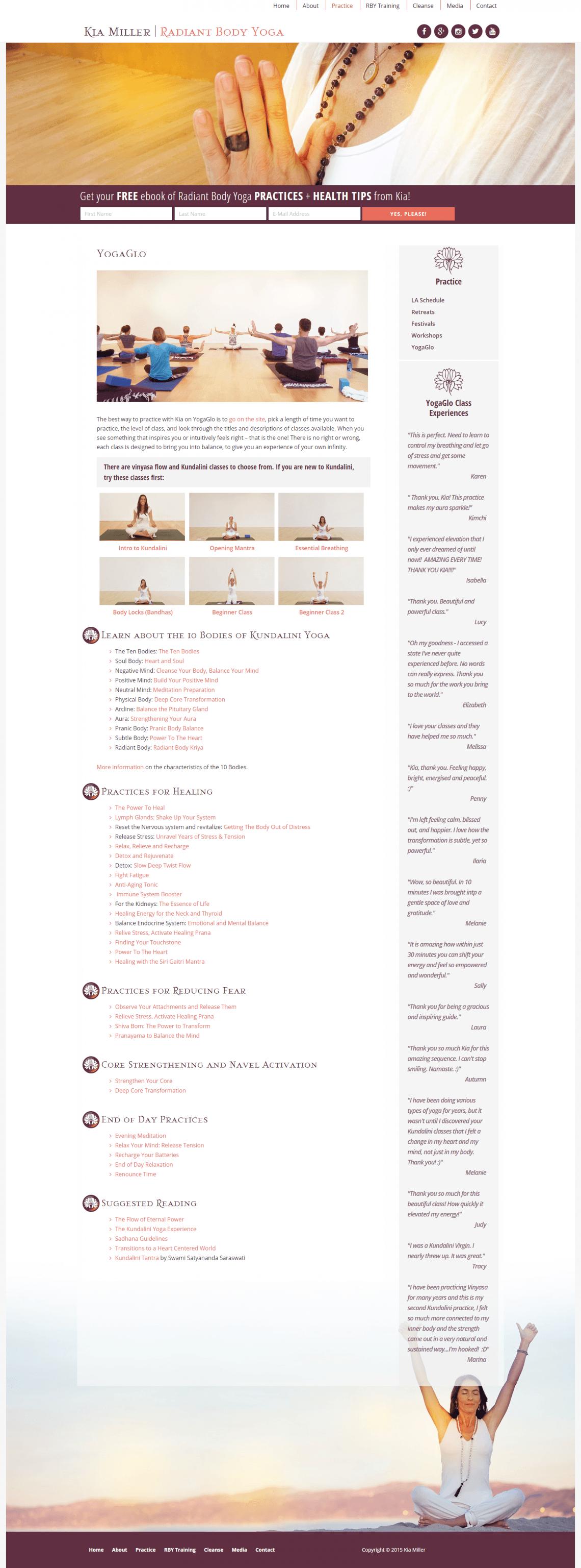 Practice: Kia Miller's Classes on YogaGlo