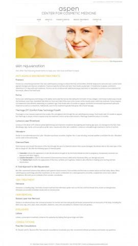 Screenshot: Aspen Center for Cosmetic Medicine