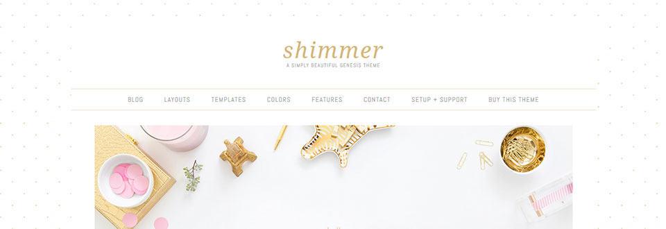 screenshot: Shimmer Theme demo page