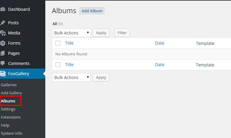 Foo Gallery Albums