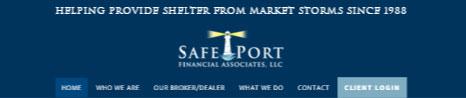 Safe Port Financial Header at 1024px