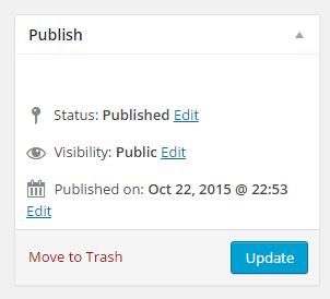 """Update"" button in ""Publish"" metabox"