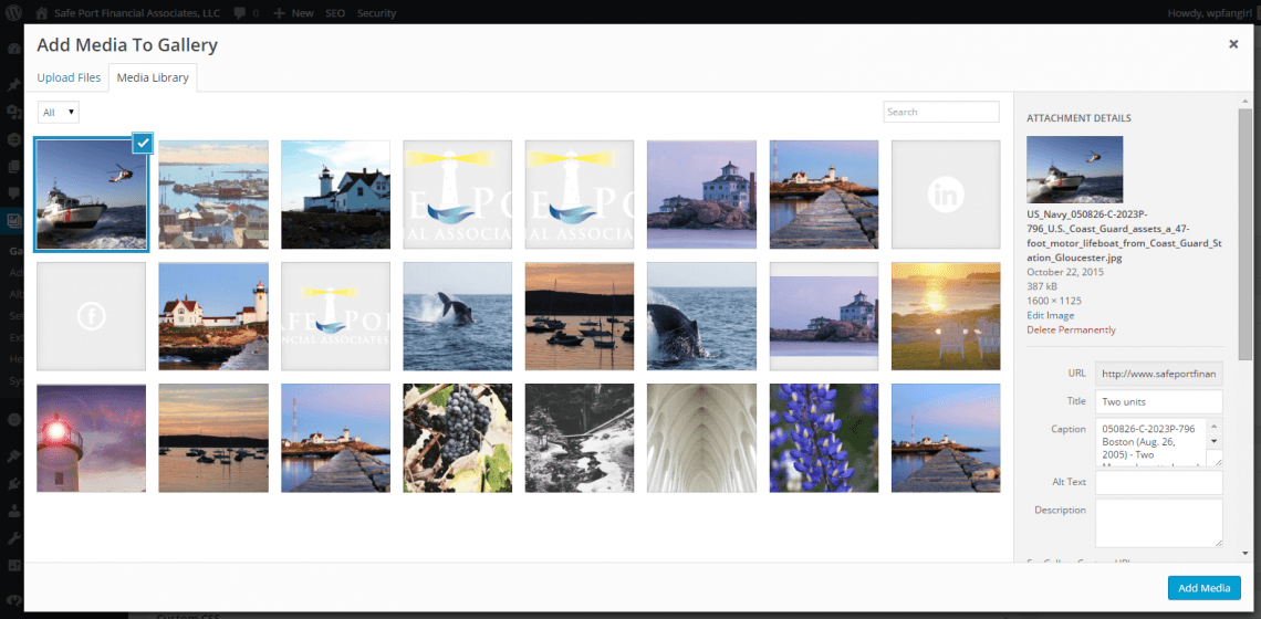 Add uploaded image to Foo Gallery