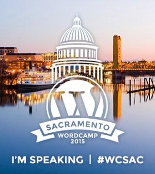 badge: I'm speaking at WordCamp Sacramento