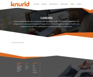 Careers Page (Default Page Template)