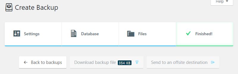 Backing up the database with BackupBuddy