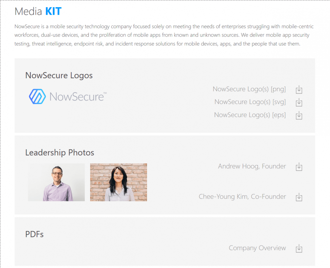 NowSecure media kit