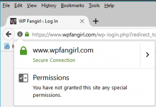 "Firefox shows a green lock with no word for HTTPS; clicking it shows ""secure connection"""