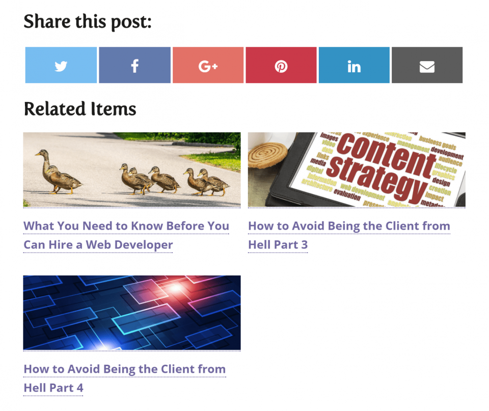 related posts grid on iPad or other medium device