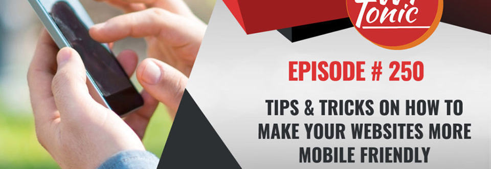 WP-Tonic Roundtable Episode 250: Tips for making your website mobile-friendly