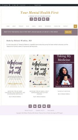 Your Mental Health First Books Page