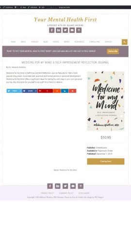 Your Mental Health First Single Book Entry