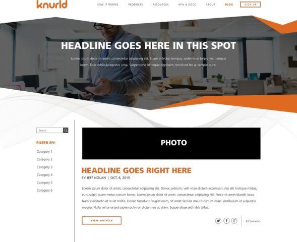 Design for Knurld.io Blog Index