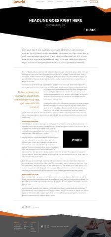Design for Knurld.io Single Blog Post