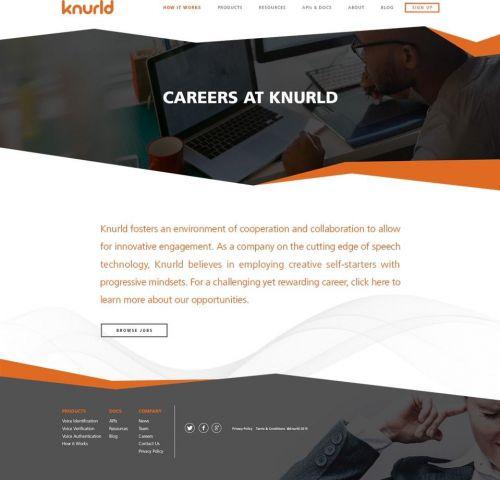 Design for Knurld.io Careers Page